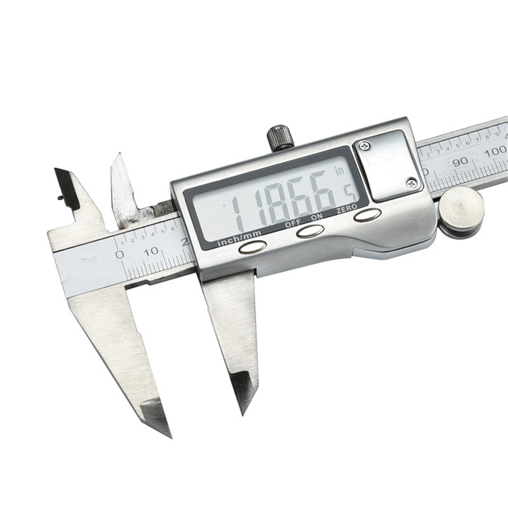 Stainless Steel Vernier Caliper Digital Caliper Measuring 0-200 - Mm Electronic- Silver