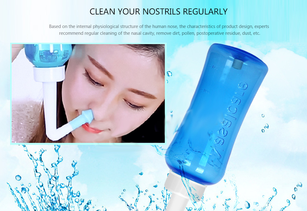 Double Nozzle Design Nasal Wash Device for Adult Children- Tron Blue