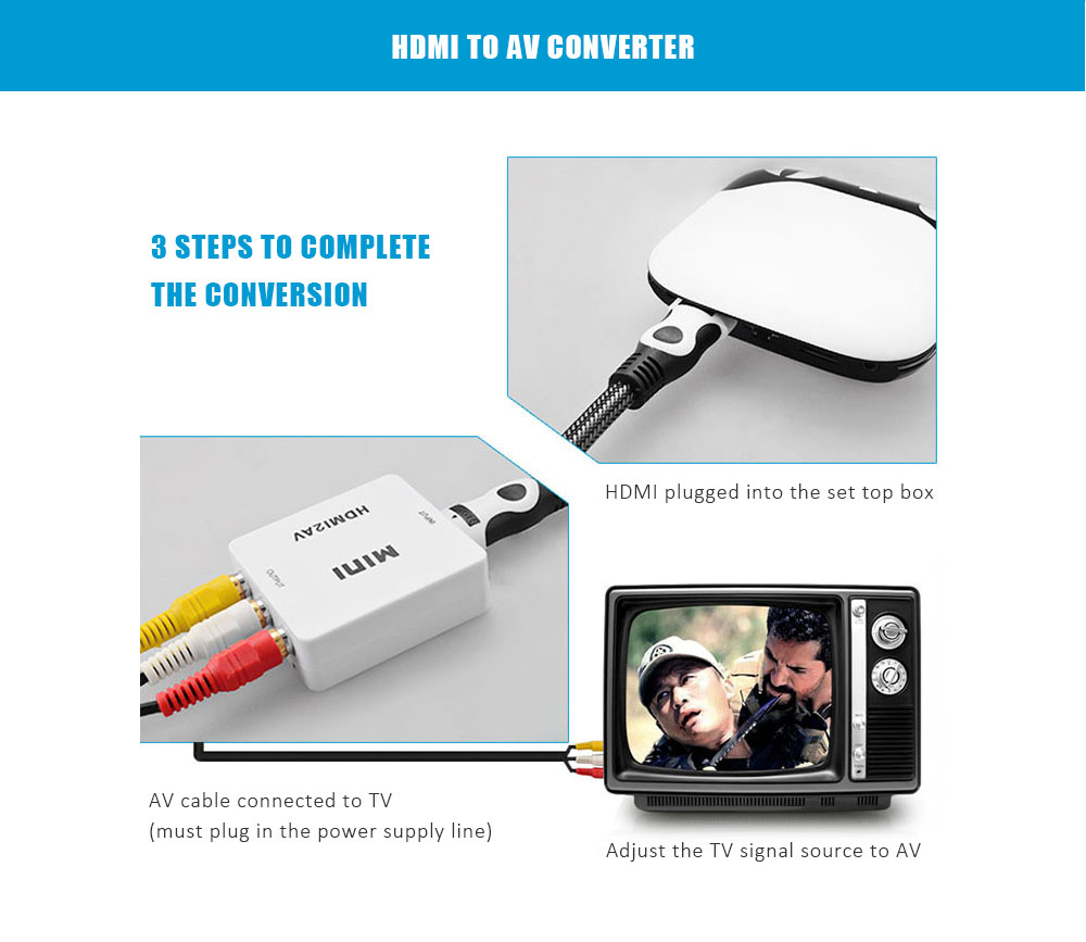 Hdmi To Av Composite Video Converter Adapter 13 93 Free Shipping