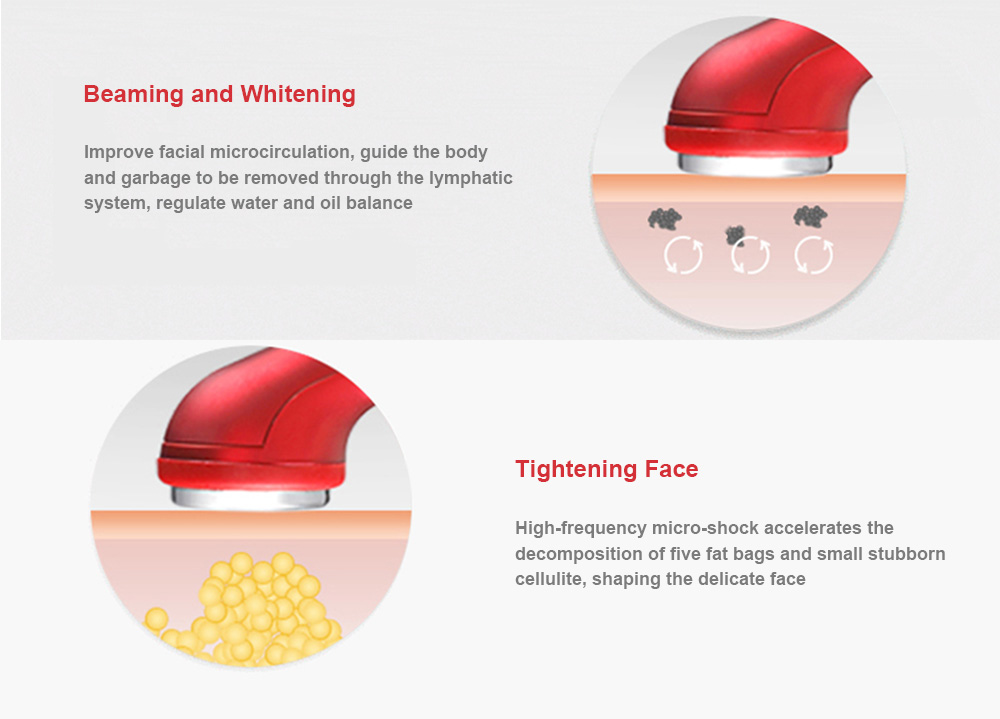 La Goodwind ZHF - CM - 1 - 2R Ultrasonic Face Firming Lifting Beauty Device- Red