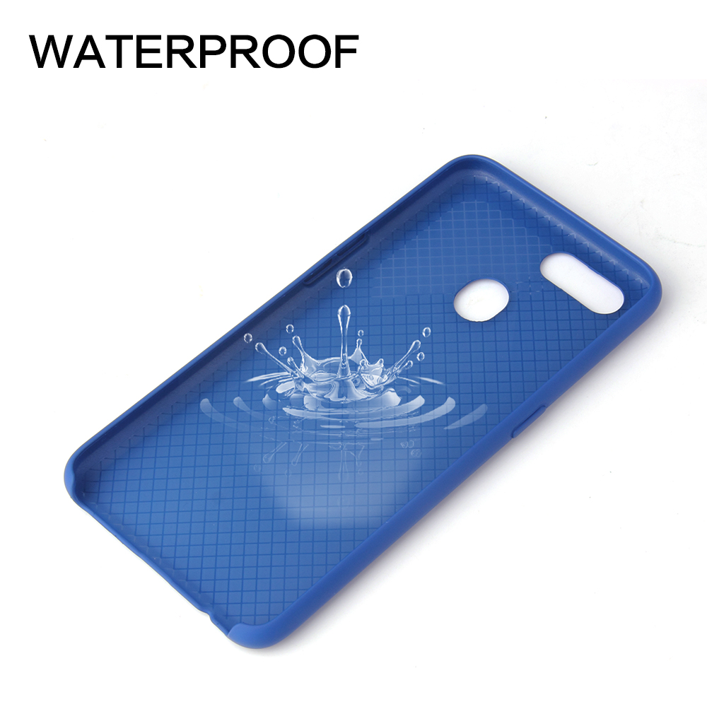 Four-Side Package Liquid Silicone High Quality Mobile Phone Case for VIVO X20- White