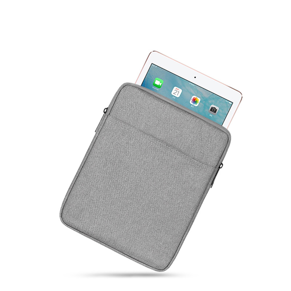 Zipper Waterproof Tablet PC Proteggi Pocket Computer Bag per IPad 3- Grigio Carbone