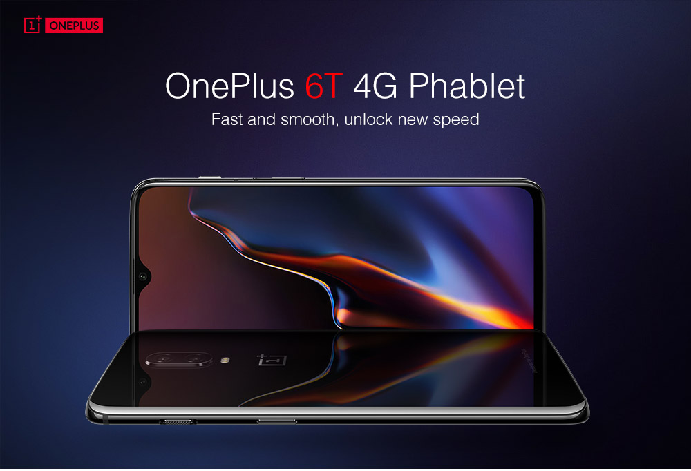 OnePlus 6T 4G Phablet 6.41 inch Android 9.0 Snapdragon 845 Octa Core 2.8GHz 16.0MP + 20.0MP Rear Camera 16.0MP Front Camera 8GB RAM 128GB ROM Light-sensitive Screen Fingerprint 3700mAh Built-in Mirror Black