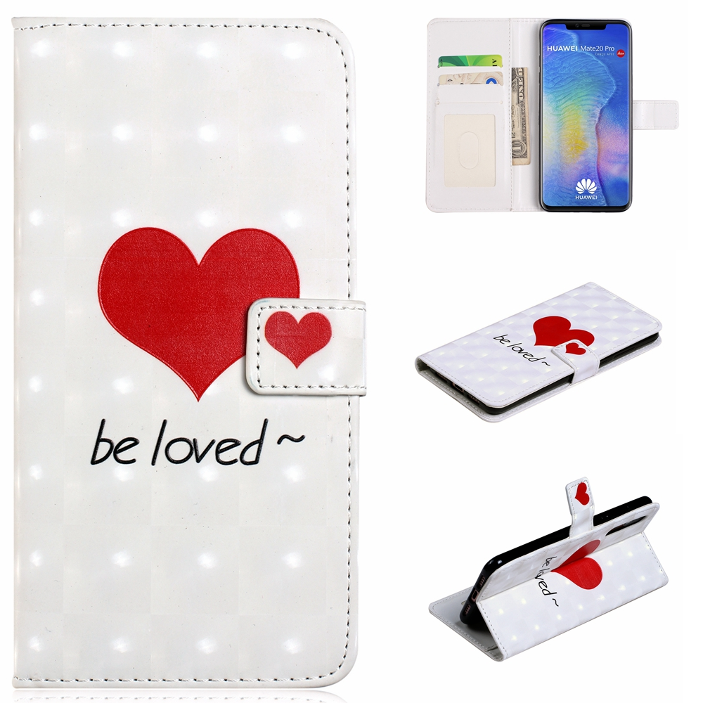 Flip Case For Huawei P20 Pro Fashion 3D Vision PU Leather Wallet Stand Cover- Multi-I