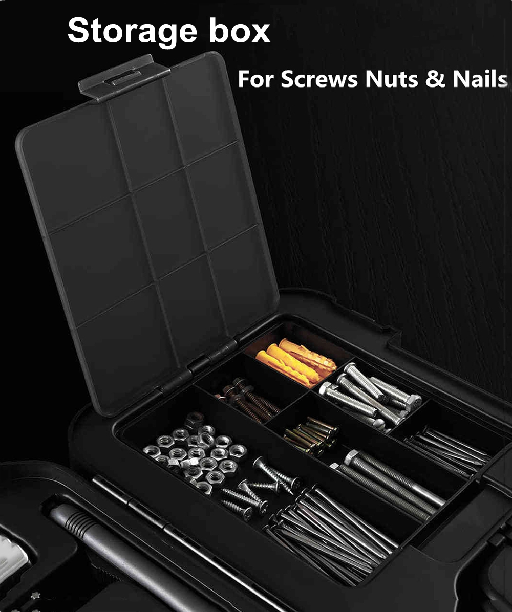 XIAOMI MIIIW 16PC DIY Hand Tool Kit Toolbox with Screwdriver Wrench Hammer Plier- Black