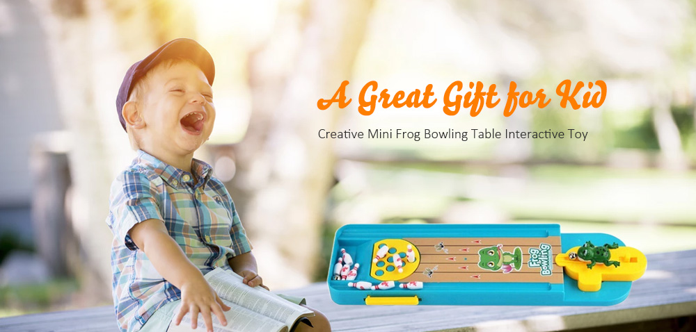 Creative Mini Frog Bowling Table Interactive Toy Children's Educational Toys- Celeste