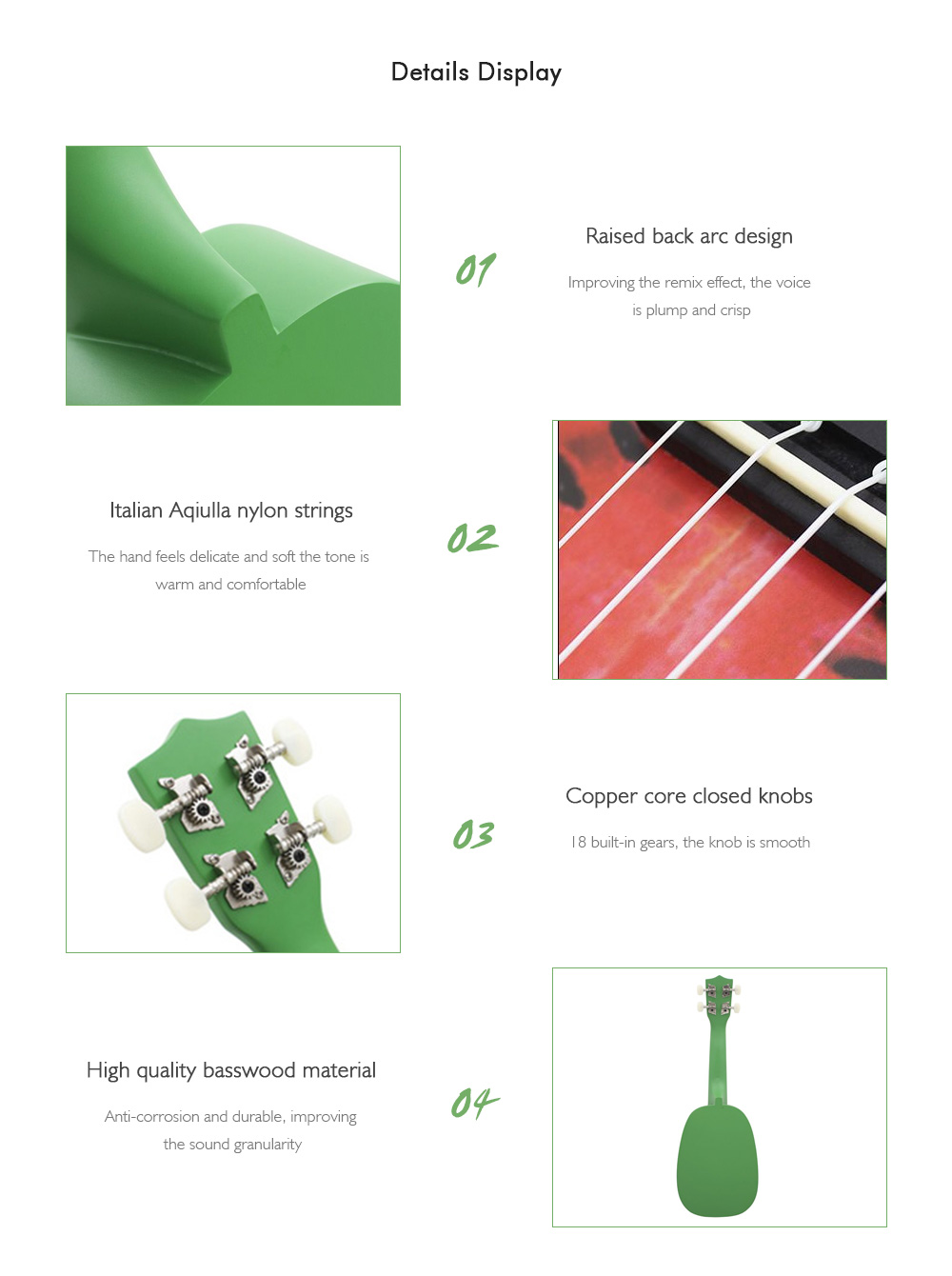 5d3ac60aa61 IRIN 21 inch 4 String Hawaii Basswood Ukulele Watermelon Design Musical  Instrument- Red and Green
