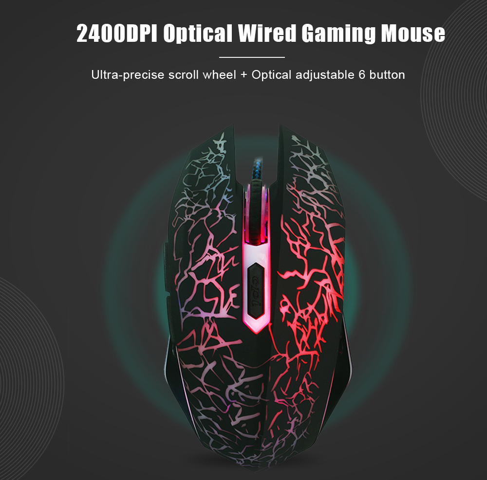 1200 DPI USB Wired Optical Gaming Mice Mouses Por Gamer For Computer PC Laptop