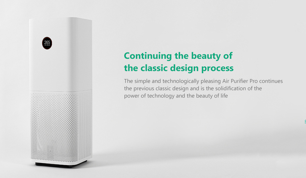 Xiaomi Mi Air Purifier Pro App Control Home Supply- White