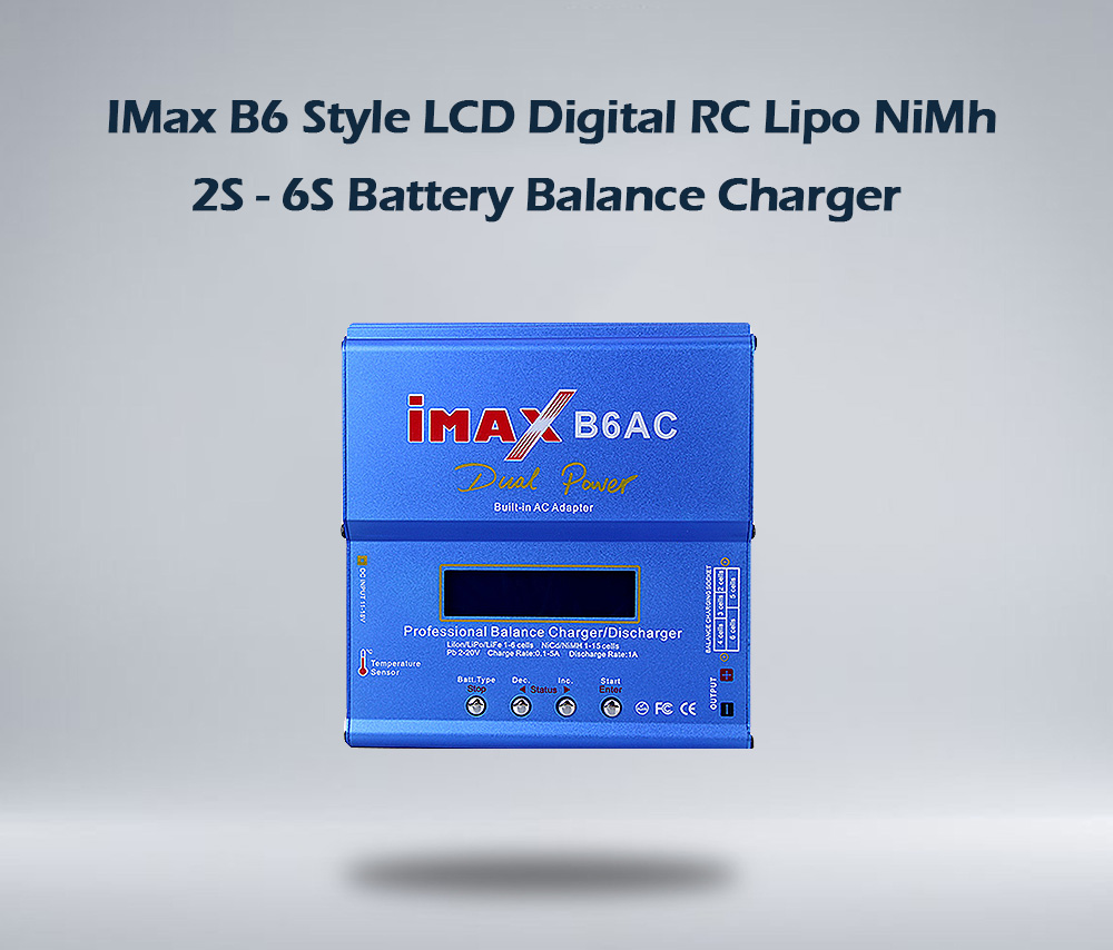 Genuine Imax B6 Style Lcd Digital Rc Lipo Nimh 2s 6s Battery Nicad Charger By Ic Ca3140e Li I
