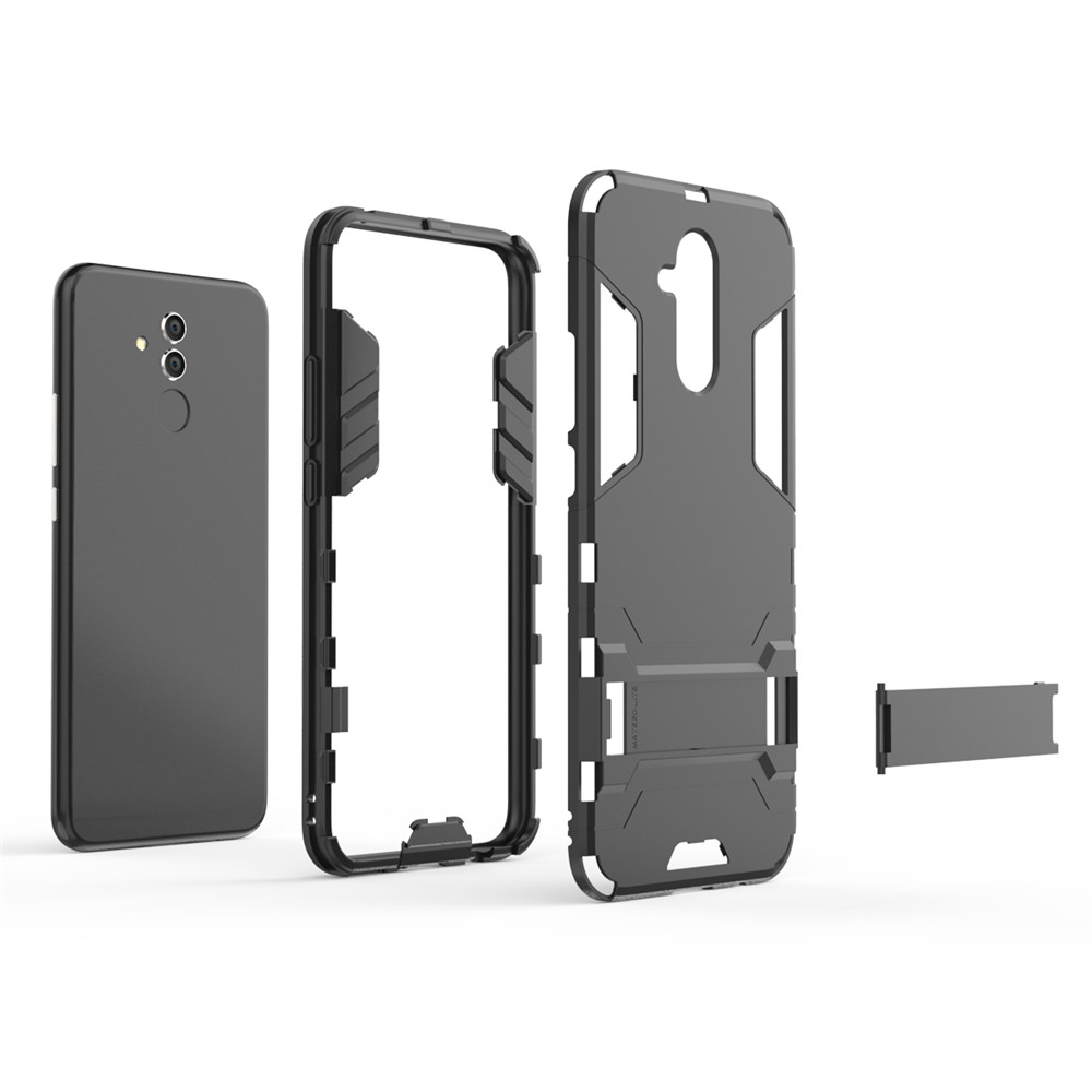 For Huawei Mate20lite Mobile Phone Case Bracket Shell Drop Protection Hard Shell- Black