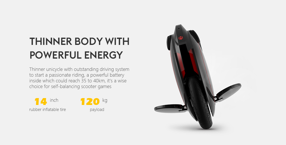 INMOTION V5F Outdoor 4.0Ah Battery Electric Balance Unicycle - Black EU Plug