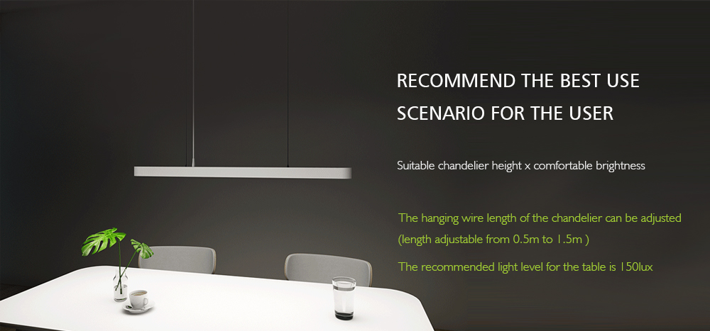 YEELIGHT Meteorite LED Smart Dinner Pendant Lights- White