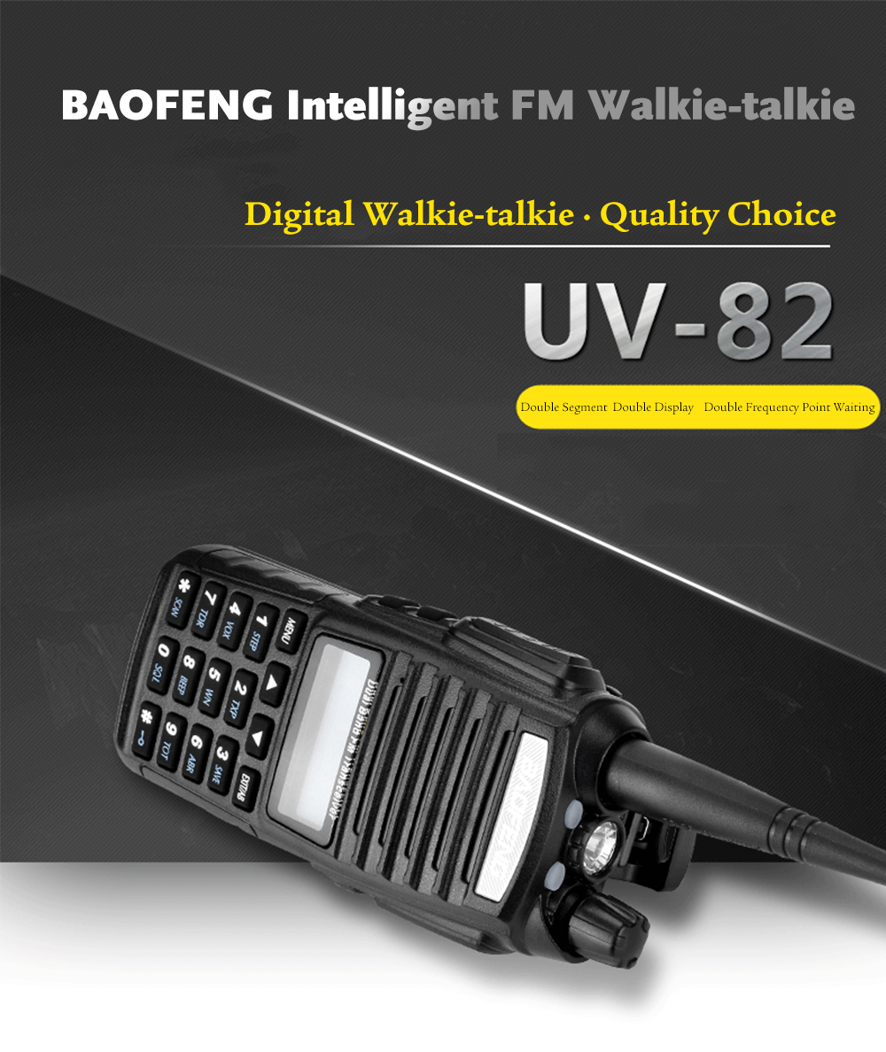Handheld Interphone With Flashlight 2999 Free Shipping Electronic 2014 New Fm Radio Walkie Talkies Circuit Board Baofeng Uv82 Compact Vhf Uhf Dual Band Talkie Transceiver Lcd Display Two Way