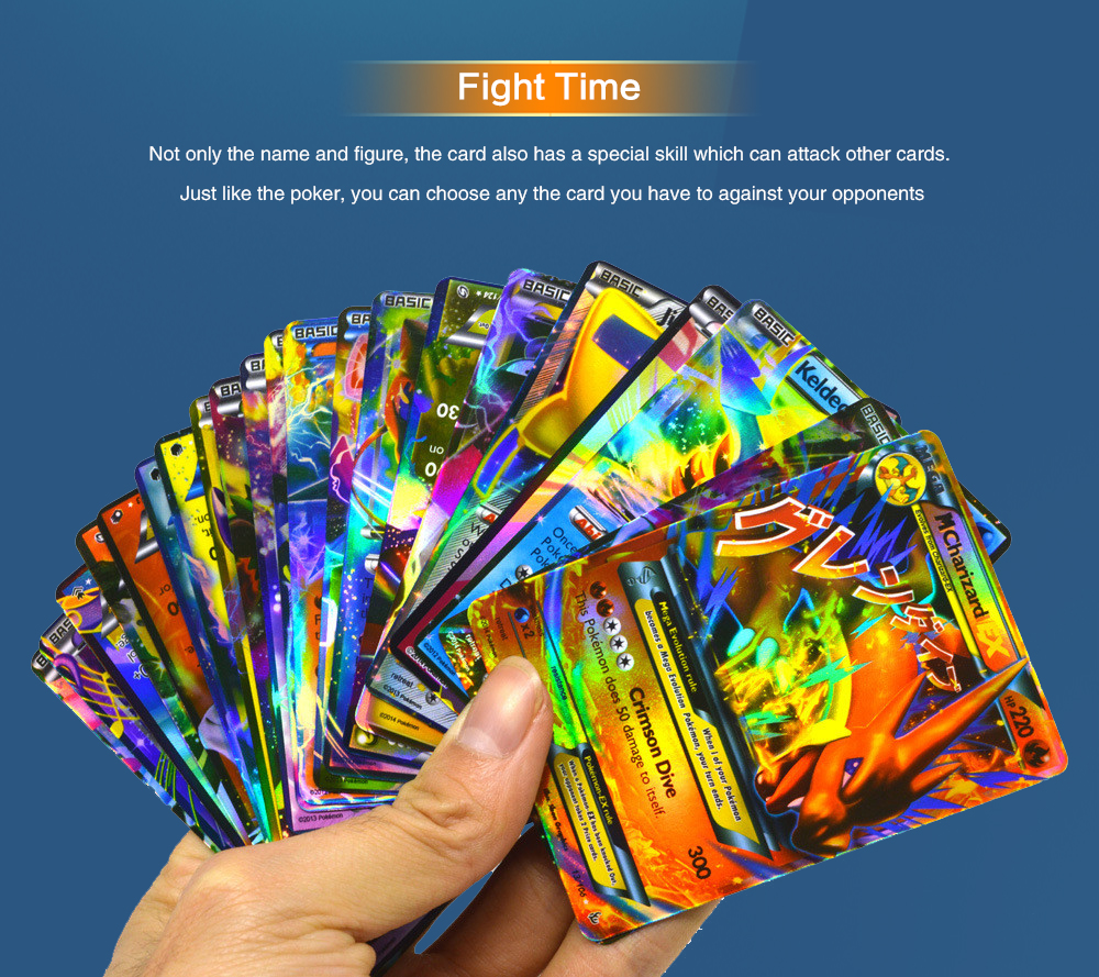 Flash Cards English Edition Toys for Kids Cartoon / Game / Collection Fans- Multi 20pcs mega