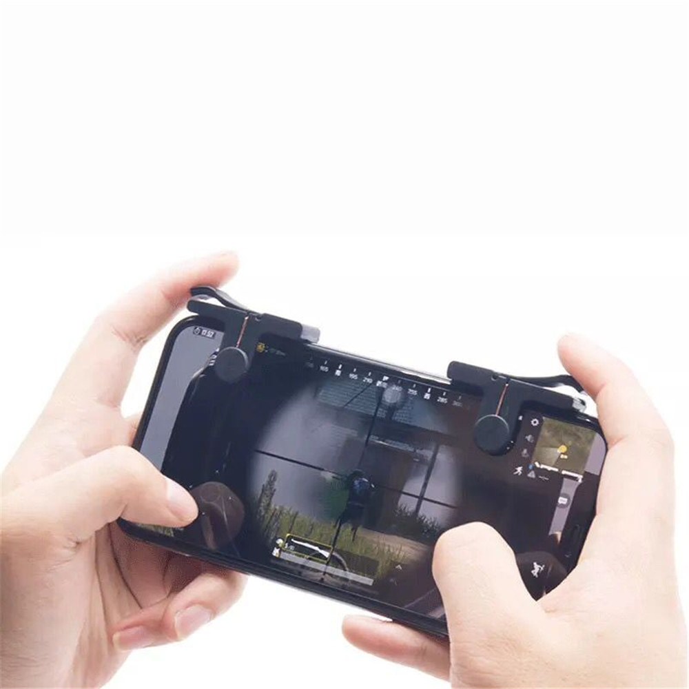 4 in 1 Phone Gaming Trigger Controller Fire Button Joystick Gamepad Kit for PUBG
