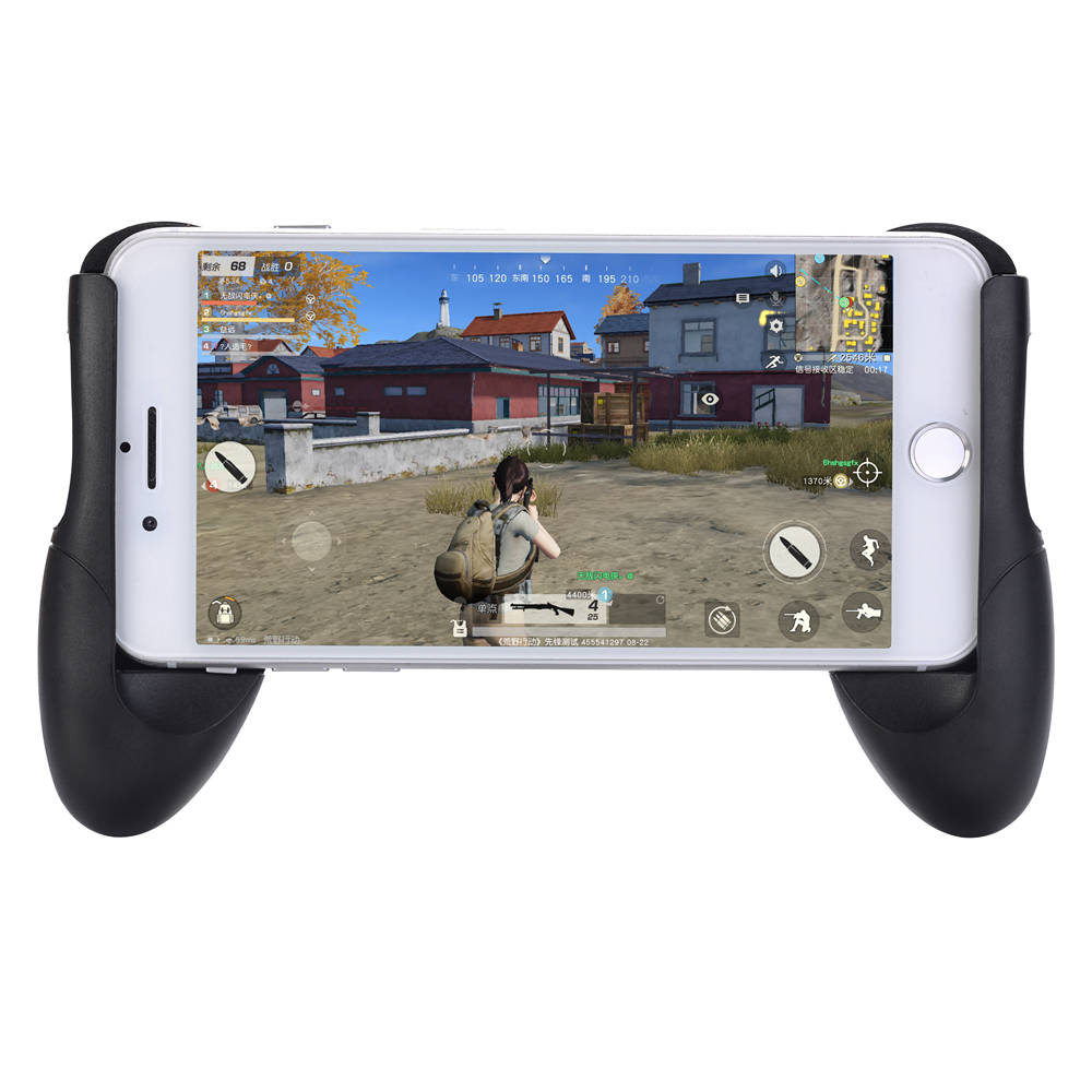 Minismile Mobile Phone Game Controller Trigger Joystick Gamepad for PUBG- Black