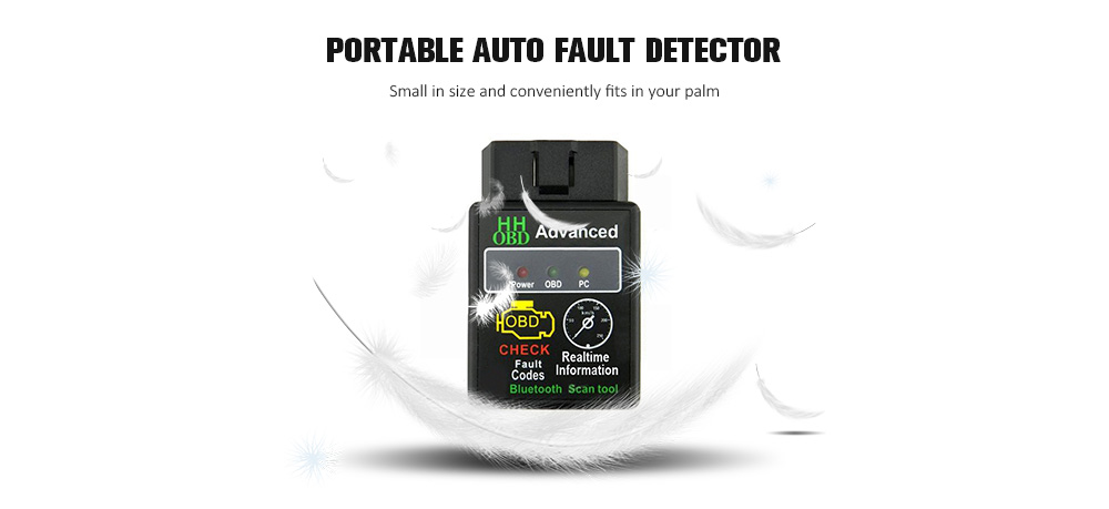 Mini ELM327 Bluetooth V2 1 OBD Car Wireless Adapter Scanner Tool Support  SAE J1850 CAN Cable