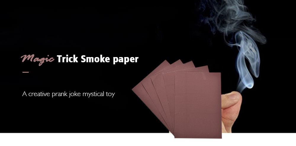 Magic Trick Smoke from Finger Surprise Prank Joke Mystical Fun Toy 1pc- Brown