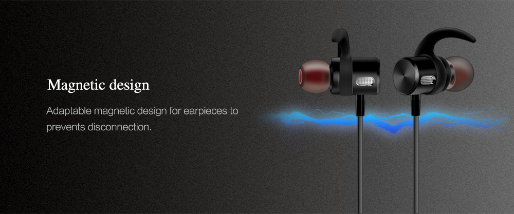 Sowak F3 Sports Bluetooth Earbuds Stereo Magnetic Sweatproof Earphone with Mic and In-line Control- Black
