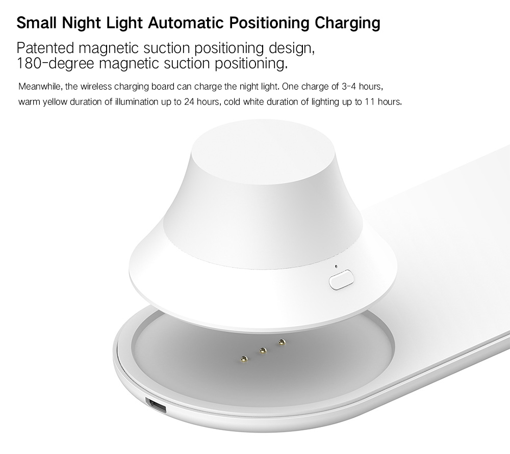 Yeelight Wireless Charging Night Light ( Xiaomi Ecosysterm Product )- White