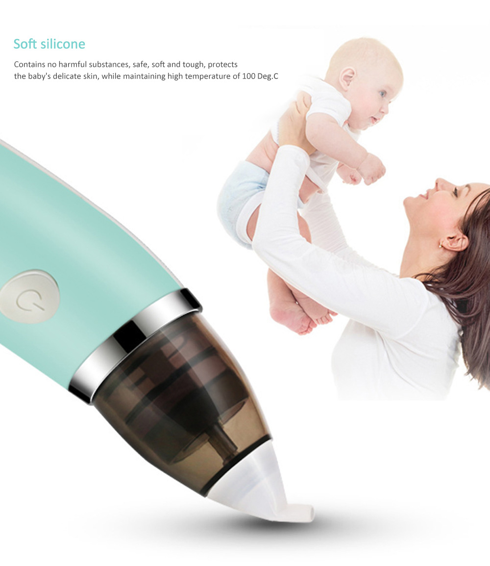 Infant Electric Nasal Aspirator for Newborns Boy Girls- Macaw Blue Green
