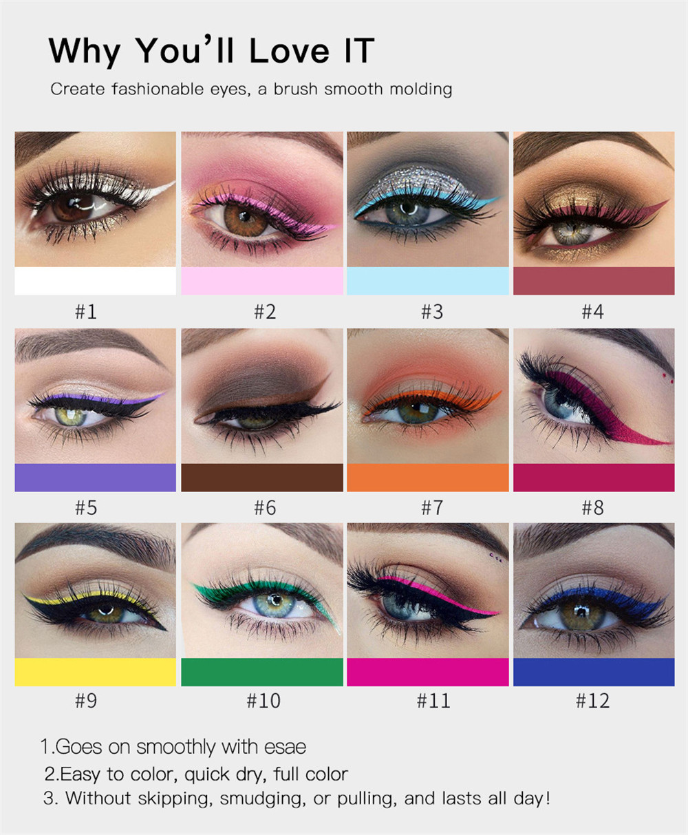 Color Eyeliner Is Not Blooming for A Long Time- Blossom Pink