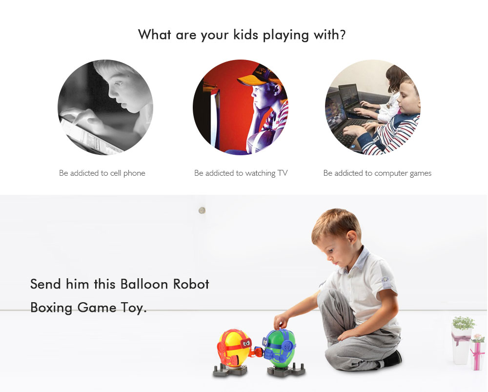 Balloon Robot Boxing Game Toy- Multi-A