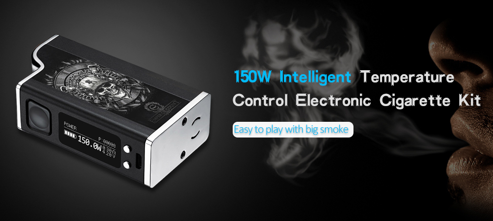 150W Intelligent Temperature Control Large Smoke Steam Vapor Kit - Silver