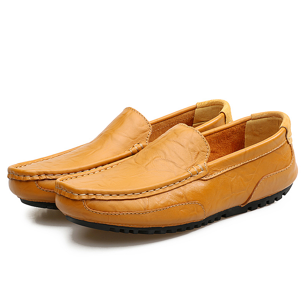 Slip-On Light Loafers Casual Mens Genuine Leather Moccasins Shoes- Cadetblue EU 41