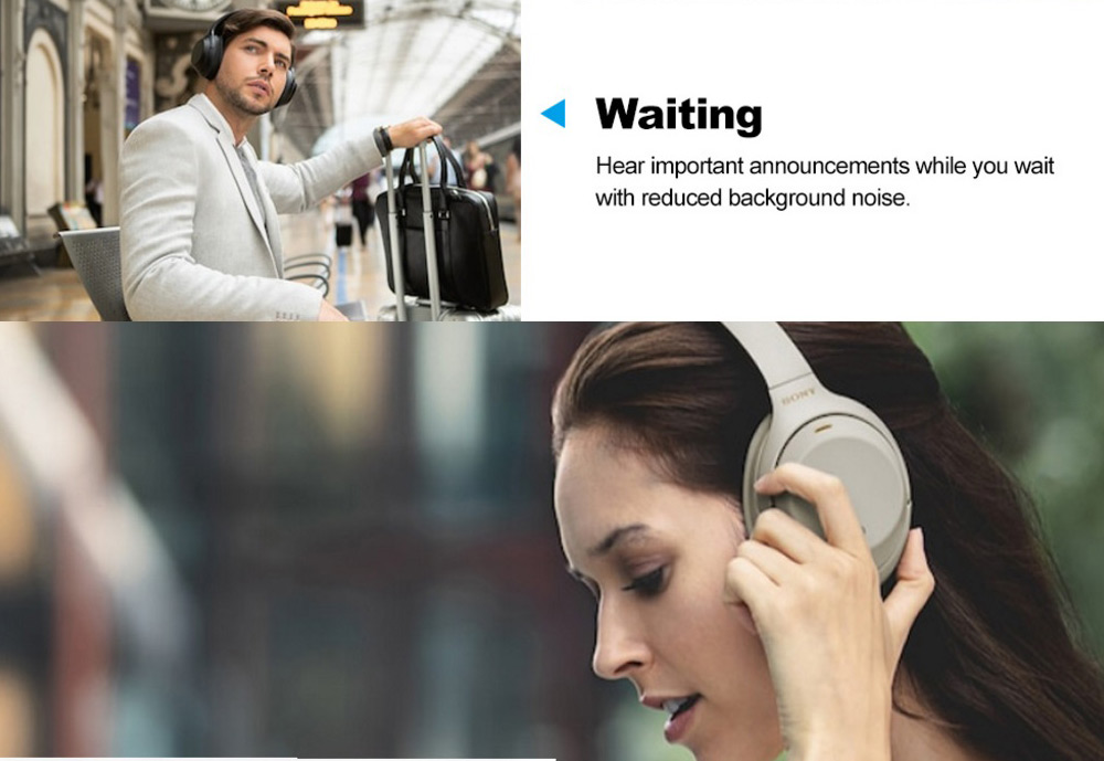 SONY WH - 1000XM3 High Resolution Wireless Bluetooth Noise Canceling  Headphones