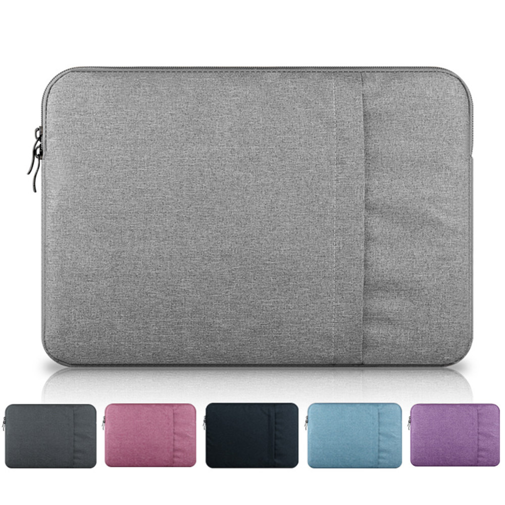 Laptop Bag 11 Inch To 15 Inch Double Pocket Shockproof Waterproof Laptop Bag- Gray 11 inches