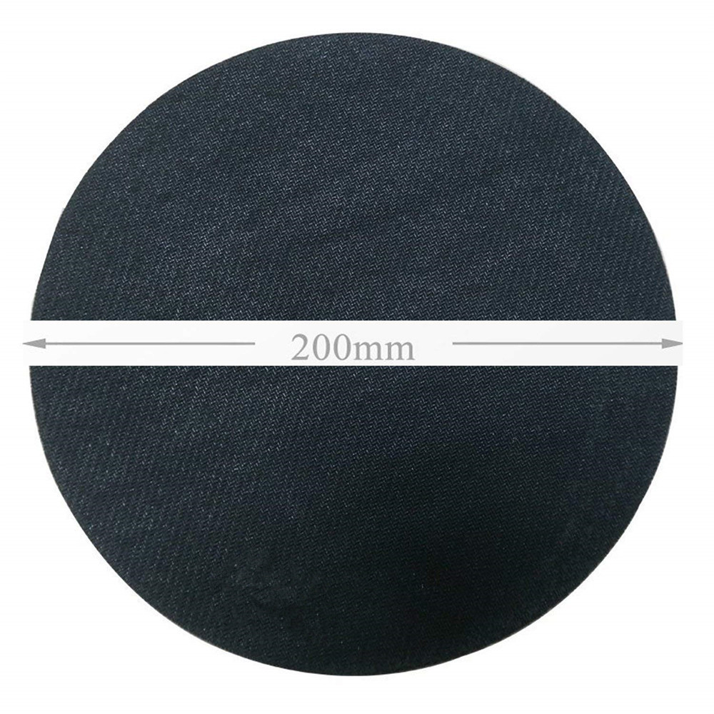 Black Non Slip Rubber Round Anti-Water Gaming  Mouse Pad- Black