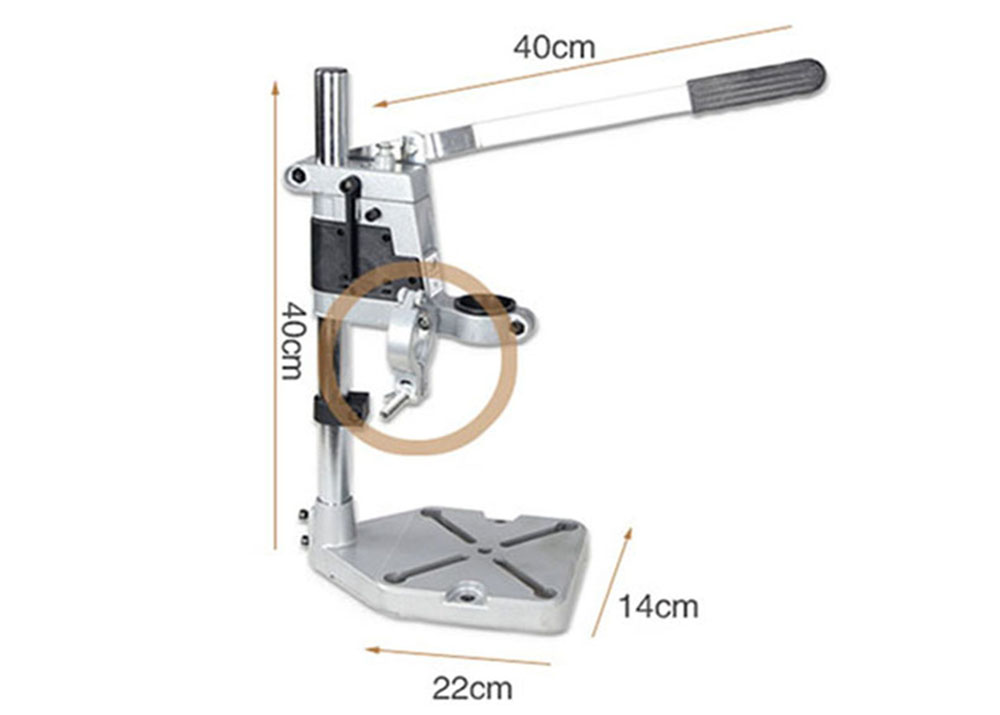 DIY Universal Drill Stand- Silver