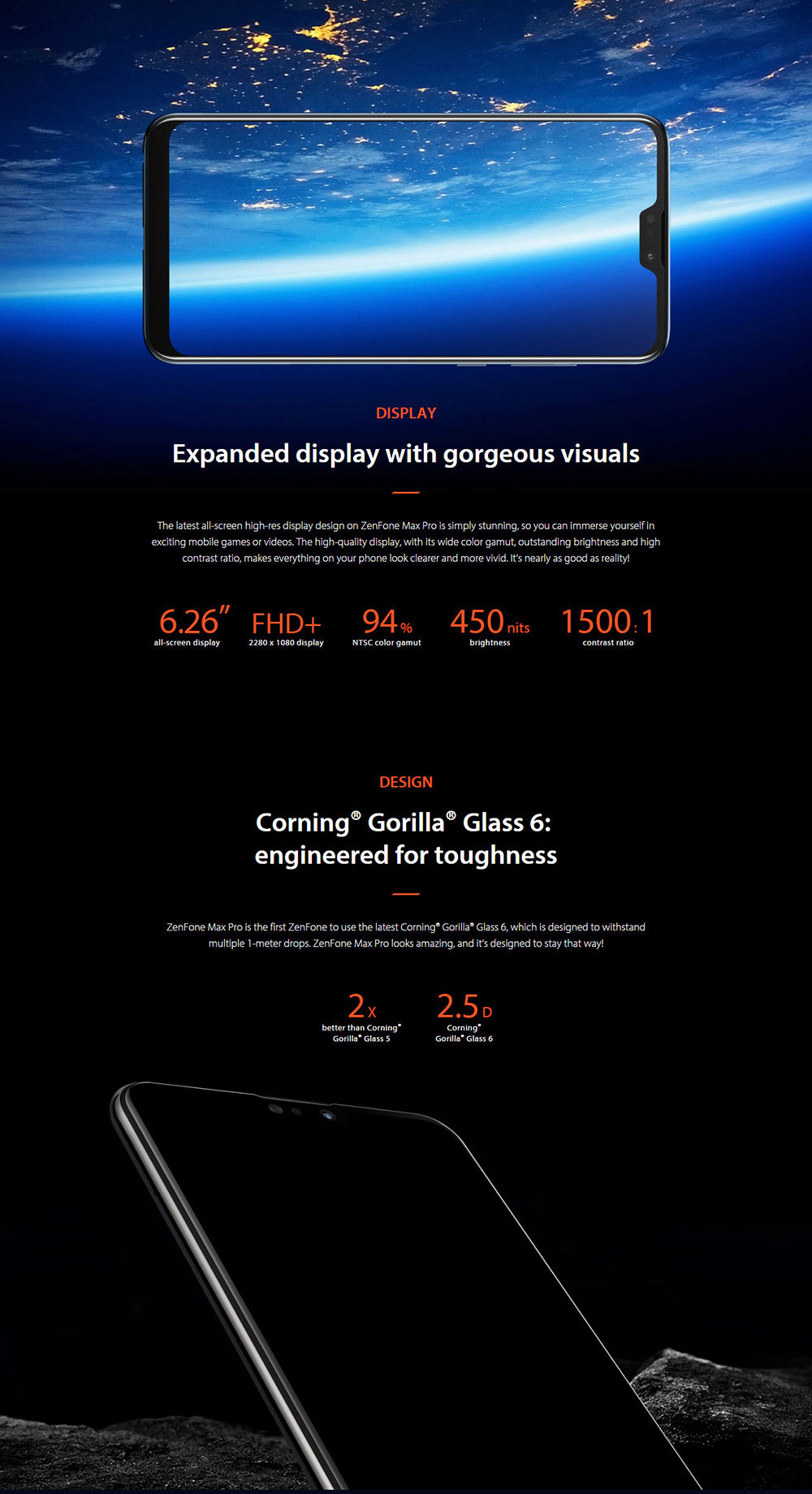 ASUS ZenFone Max Pro ( M2 ) 4G Phablet 6.26 inch Stock Android Oreo Qualcomm Snapdragon 660 Octa Core 2.2GHz 4GB RAM 64GB ROM 12.0MP + 5.0MP Rear Camera Fingerprint Sensor Face ID 5000mAh Built-in - Blue