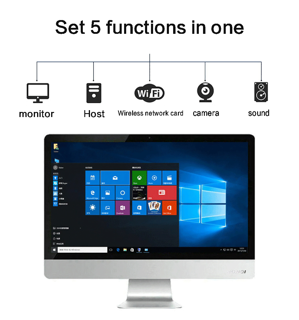 Y105D21.5 Inch Desktop One Computer- White 4+120GB