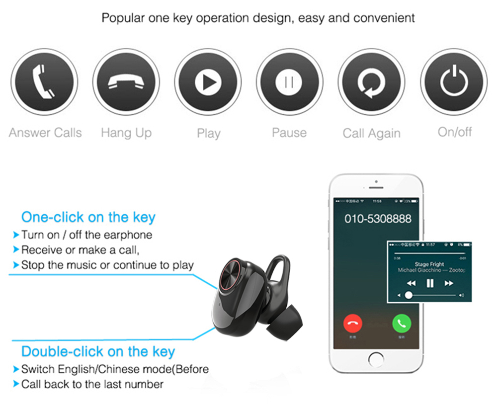 Lymoc V5 TWS Wireless Bluetooth 5 0 Earphone Touch Control Waterproof Auto  Turn on Fast Pairing Earbuds