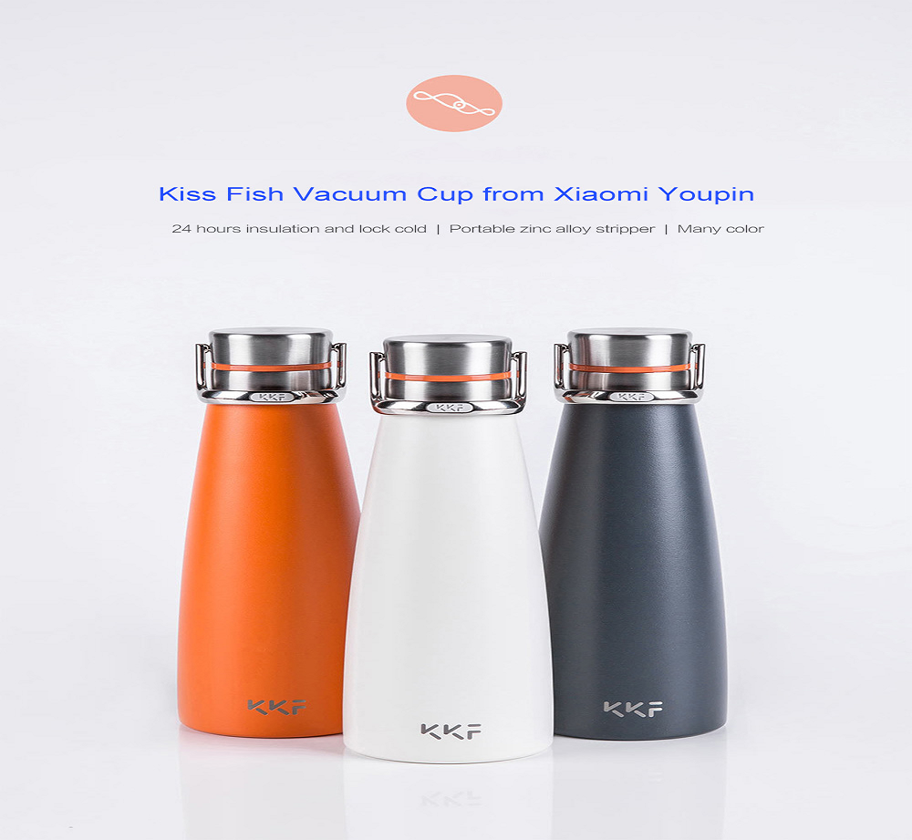d11a9614a04 Kiss Fish Vacuum Cup from Xiaomi youpin- Orange