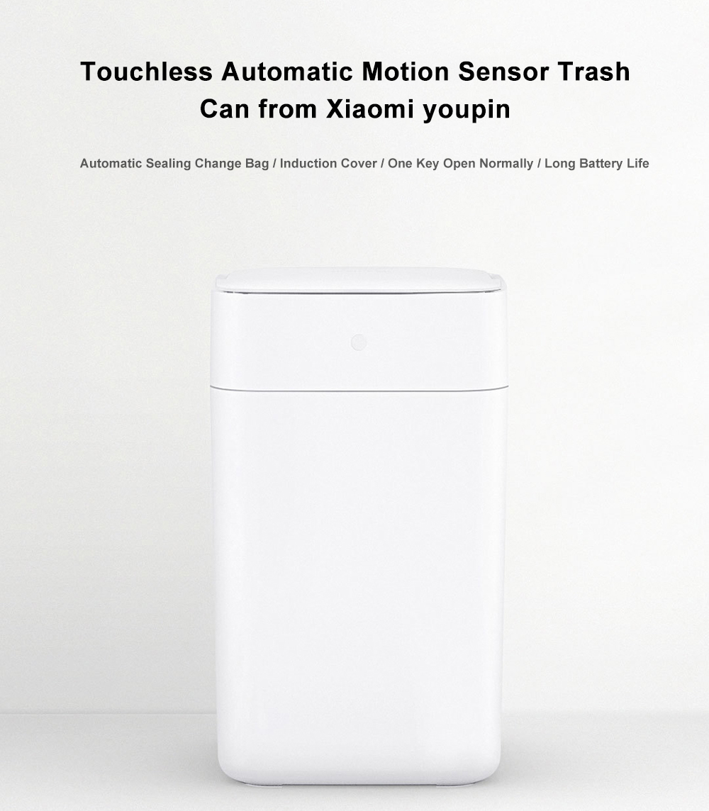 Intelligent Induction Automatic Motion Sensor Trash Bin from Xiaomi youpin - White