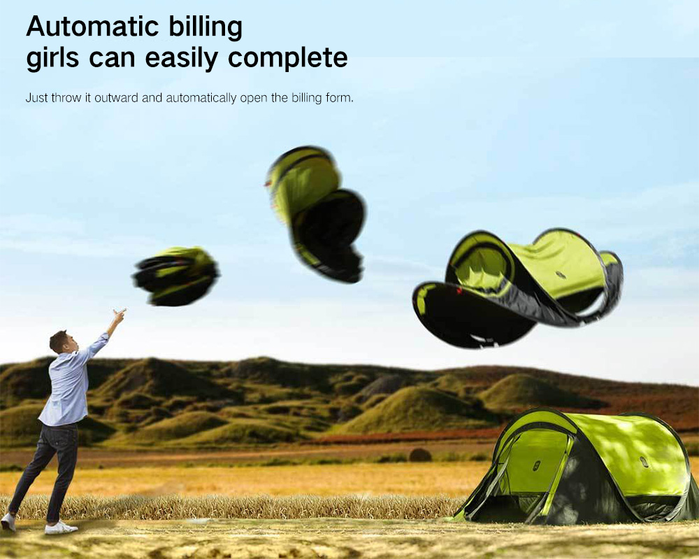 5e78e308b0e zaofeng Outdoor 3 - 4 People Double-layer Quick-opening Tent from Xiaomi  youpin