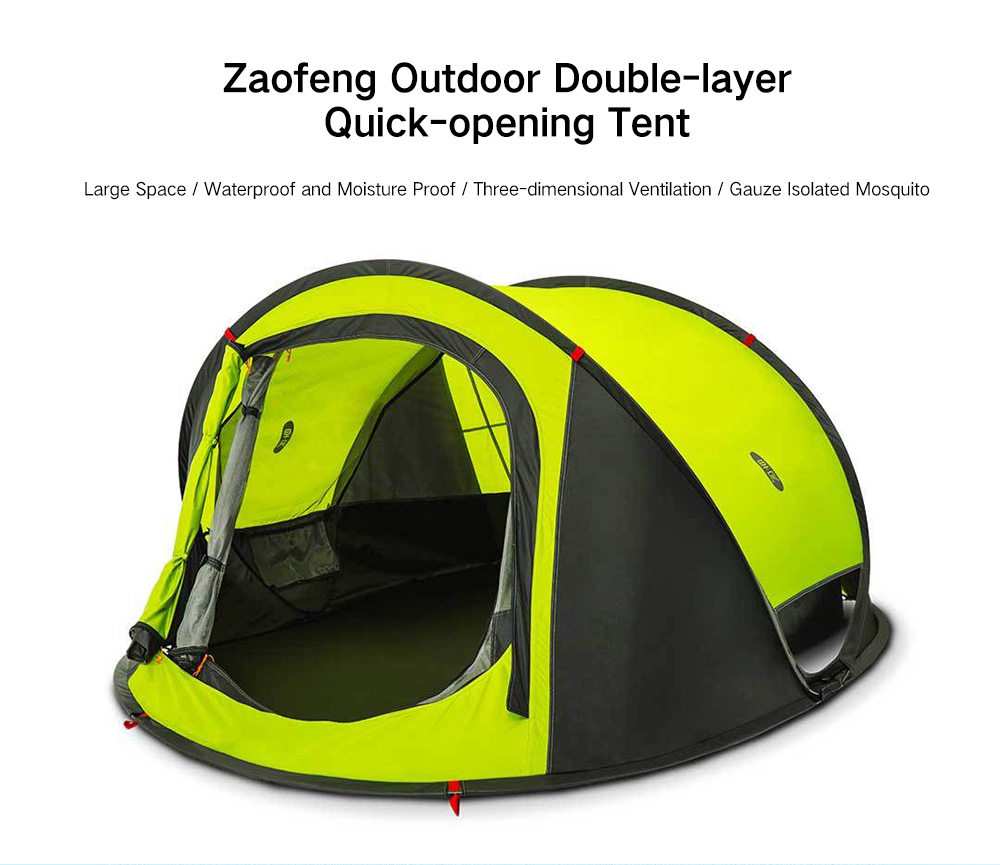 promo code ec505 540d5 zaofeng Outdoor 3 - 4 People Double-layer Quick-opening Tent from Xiaomi  youpin