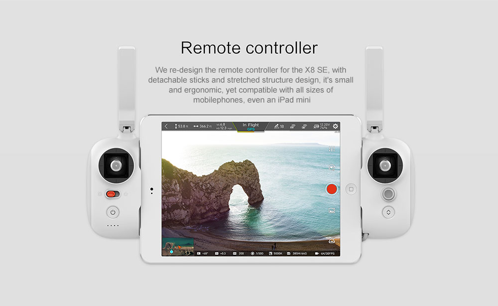 FIMI X8 SE 5KM FPV With 3-axis Gimbal 4K Camera GPS 33mins Flight Time RC Drone Quadcopter RTF ( Xiaomi Ecosystem Product )- White