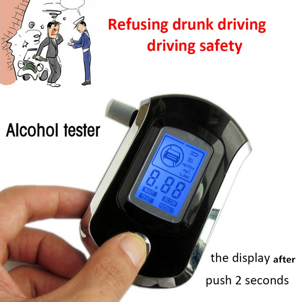 Analizzatore etilometro Alcohol Tester Alcohol digitale AT6000- Nero