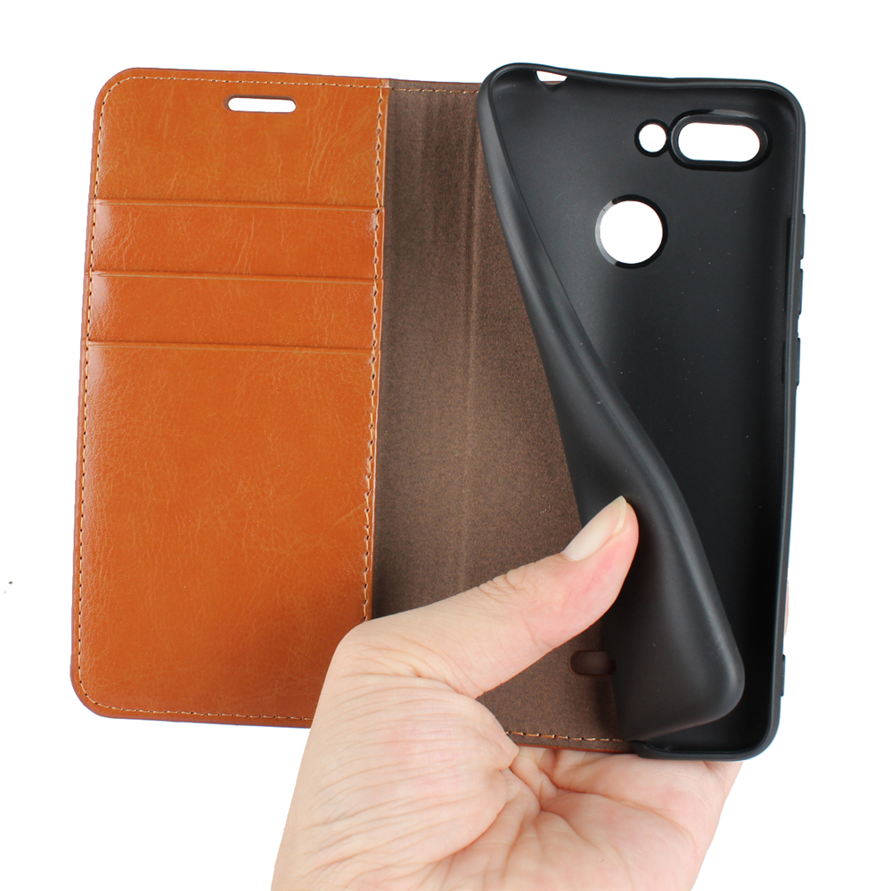 For Xiaomi Rdemi 6 Phone Case Protector Leather Cover- Black