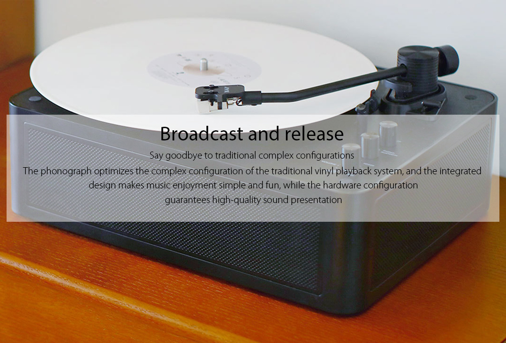 Multifunctional Bluetooth Vinyl Player from Xiaomi youpin- Black