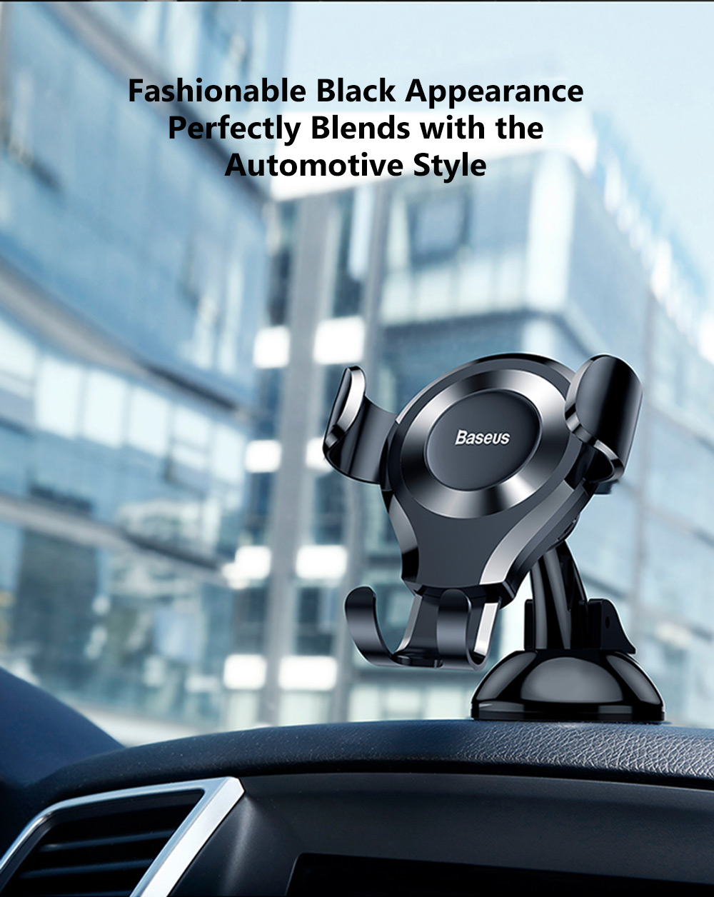 Baseus SUYL - XP01 Universal Gravity Car Phone Holder Adjustable Stand Mount- Black