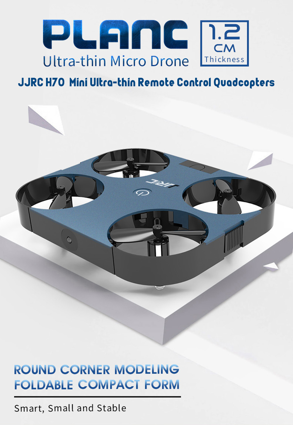 JJRC H70  Mini Ultra-thin Remote Control Quadcopters- Blue