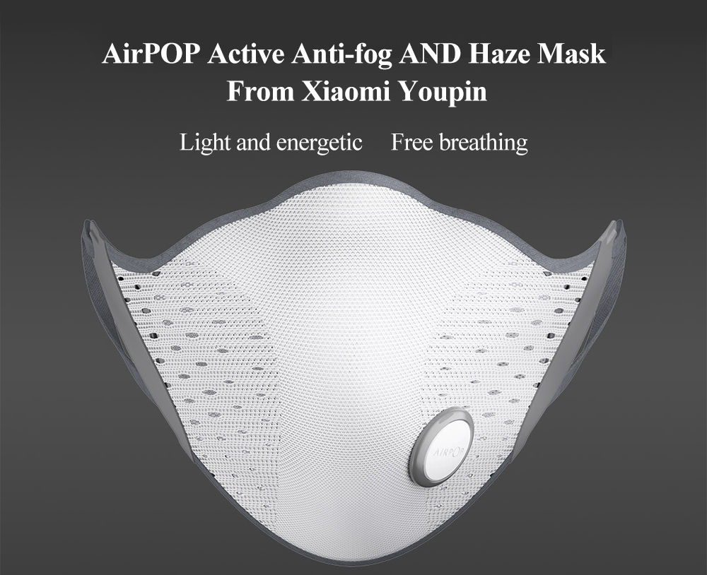 AirPOP Active Anti-fog and Haze Mask di Xiaomi Youpin- Bianca