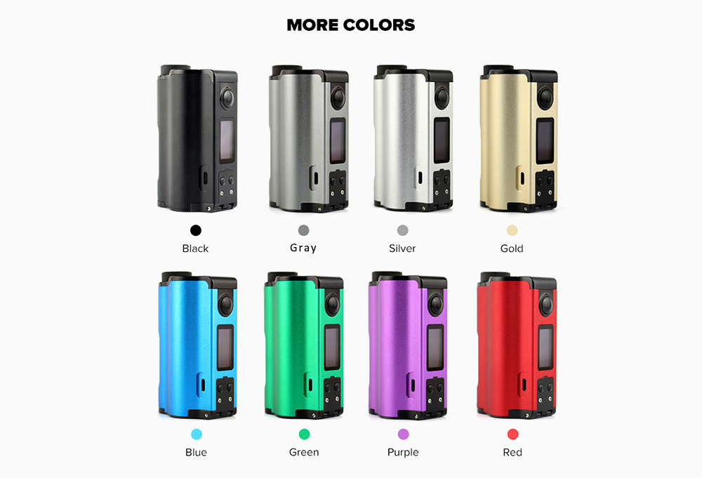 Dovpo Topside Dual Top Fill 200W Squonk Mod 8 Colors Available