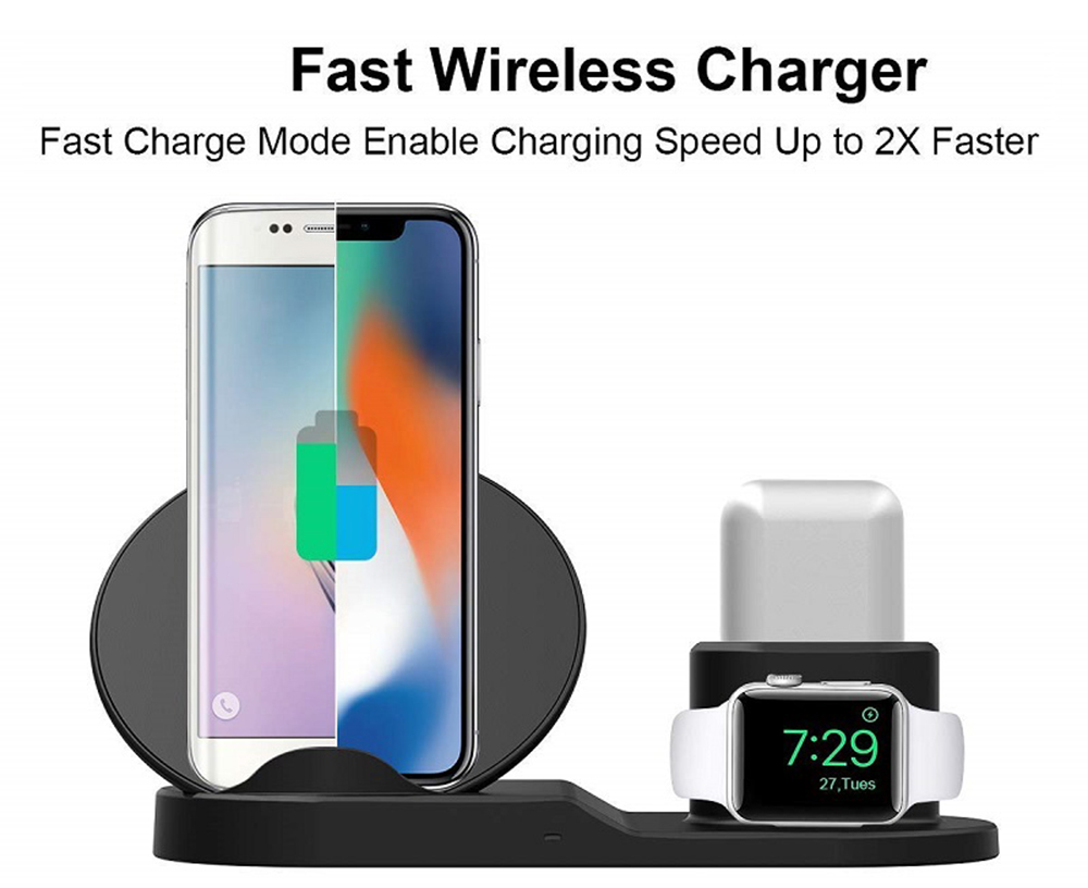 N30 3 - in - 1 Fast Wireless Charging Stand - White
